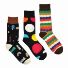 Men's Bright Big Geo Pattern Socks (3 Pair)