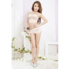 Women's European Style Perspective Sexy Chest Wrapped Split Open Files Sexy Lingerie