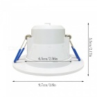 YouOKLight YK4401 3W 9500K Cold White 8-SMD LED Ceiling Light (4PCS)
