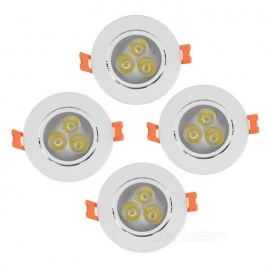 YouOKLight 3W 220lm 3-LED White Light Ceiling Lamp w/ LED Driver(4PCS)