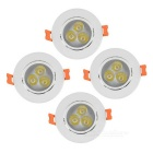 Youoklight lámpara del techo de la luz blanca de 3leds 220lm 3-LED con el conductor del LED (4PCS)