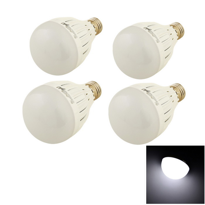 Youoklight E27 7W LED bulbo frio branco 650lm 14-SMD (85 ~ 250V / 4PCS)
