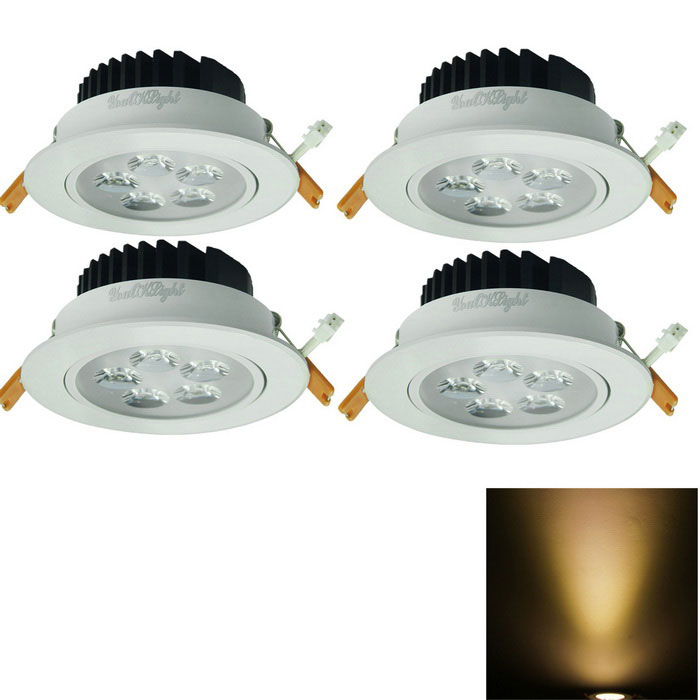 YouOkLight 5W Warm White 5-LED Ceiling Lamp w/ Driver - White (4PCS)