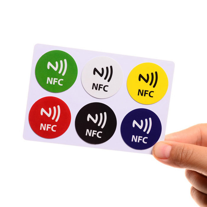 144 Bytes Writeable Programmable Tags for NFC Phone - Multicolor(6PCS)