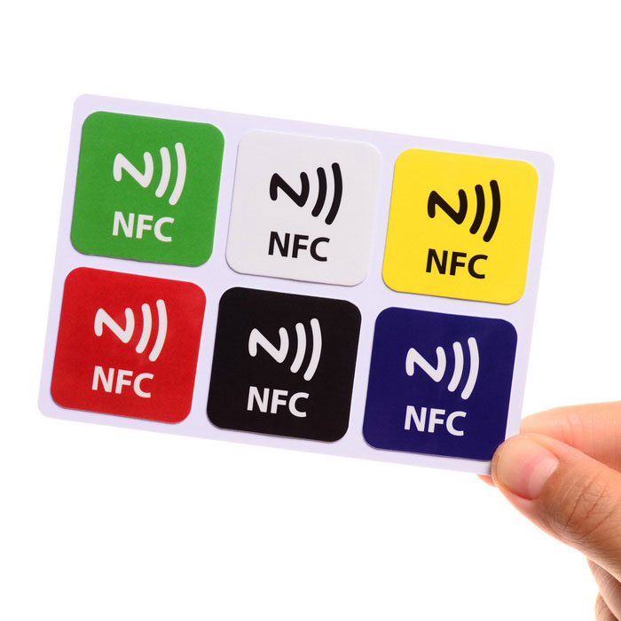Ntag216 chip 888 bytes smart tags voor NFC telefoon - multicolor (6PCS)