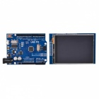"UNO R3 ATmega328P Improved Development Board + 2.8"" TFT LCD Touch Screen Shield for Arduino"