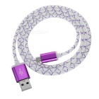 Dragon Design V8 Micro USB / USB 2.0 Data Sync / Charging Cable - White + Purple (95cm)