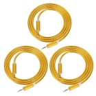 Universal 3.5mm Male to Male Audio AUX Cable - Gold (100cm / 3PCS)