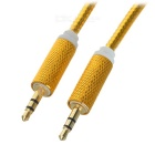 Universal 3.5mm Male to Male Audio AUX Cable - Golden (1m / 3PCS)