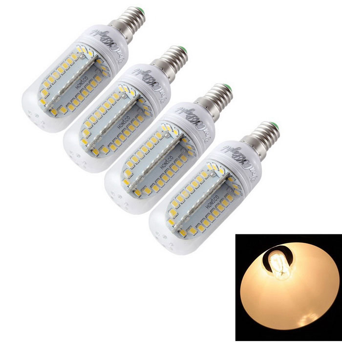 YouOKLight E14 9W LED Corn Bulb Lamp Warm White Light 84-SMD (4PCS)