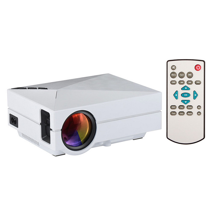 GM60 Mini Digital LCD HD Home Theater Projector w/ HDMI, SD - White