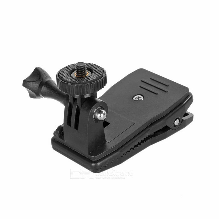 Backpack Clip Mount for GoPro Hero 4, 4 Session, 3+ 3 2, Xiaoyi,SJ4000Mounting Accessories<br>Form ColorBlackQuantity1 DX.PCM.Model.AttributeModel.UnitMaterialABSShade Of ColorBlackCompatible ModelsOthers,GoPro Hero 1,GoPro Hero 2,GoPro Hero 3,GoPro Hero 3+,GoPro Hero 4,GoPro Hero 4 Session / Xiaomi Xiaoyi / SJ4000RetractableNoMax.Load1500 DX.PCM.Model.AttributeModel.UnitPacking List1 x Clip mount<br>