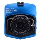 "H2 1080P 3.0MP 2.31"" Car DVR w/ Mic / IR Night Vision - Black + Blue"