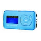 "1.1"" OLED MP3 Player w/ Mini USB / TF / 3.5mm - Blue + Silver"