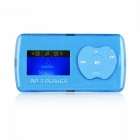 "1.1"" OLED MP3 Player w/ Mini USB / TF / 3.5 mm - Azul + Prata"