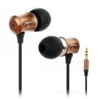 JBMMJ V8 Fashion 3.5mm Jack Plug Wired In-Ear Earphones Headphones - Brown + Black (2pcs)