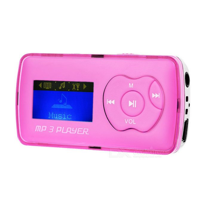 1.1 OLED MP3 Player w/ Mini USB / TF / 3.5mm - Pink + SilverMP3 Players<br>Form  ColorPink + SilverBuilt-in Memory / RAMNoQuantity1 DX.PCM.Model.AttributeModel.UnitMaterialAluminum alloy + plasticShade Of ColorPinkScreen TypeOLEDTouch Screen TypeNoScreen Size1.1 DX.PCM.Model.AttributeModel.UnitMemory Card TypeTFMax Extended Capacity32GBAudio Compression FormatMP3VideoNoE-bookNOTuner BandsNoHeadphone Jack3.5mmOther InterfaceMini USB / TF slotBattery Capacity120 DX.PCM.Model.AttributeModel.UnitWorking Time6~8 DX.PCM.Model.AttributeModel.UnitBattery TypeLi-ion batteryLoud Speaker Function YesLyrics DisplayYesMenu LanguageEnglish,French,German,Italian,Spanish,Portuguese,Russian,Danish,Dutch,Thai,Swedish,Chinese SimplifiedAudio ModeNatural,Rock,Jazz,Classical,PopularPacking List1 x MP3 player1 x USB cable (50+/-2cm)<br>