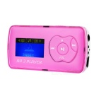 "1.1"" OLED MP3 Player w/ Mini USB / TF / 3.5mm - Pink + Silver"