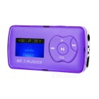 "1.1"" OLED MP3 Player w/ Mini USB / TF / 3.5mm - Purple + Silver"