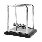 Desk Stainless Steel Newton's Cradle Balance Balls Toy - Silver