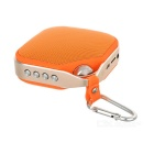 PTH-16 Outdoor Sports Portable Mini Wireless Subwoofer Bluetooth Speaker - Orange + Silver