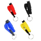 Emergency Car Safety Hammer / Belt Cutter, Keyring - Multicolor (4PCS)