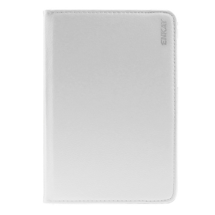 ENKAY 360' Rotation PU Case w/ Stand for Samsung Tab S2 T715 - White