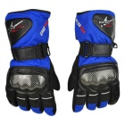 PRO-BIKER Motorcycle Thickened Warm Waterproof Anti-Slip Racing Gloves - Blue (1 Pair / Size M)
