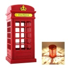 Vintage London Telephone Booth LED Table Lamp Night Light Desk Lamp Toch Panel Power-Sacing Lighting