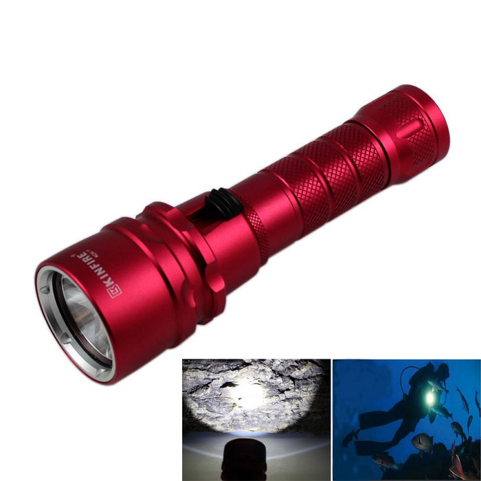 KINFIRE XM-L2 U2 1-LED IPX8 110m Waterproof Diving Flashlight - Red
