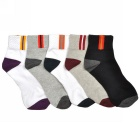 Men's Professional Mountaineering Sports Ankle Socks - White +  Black (5 Pairs)