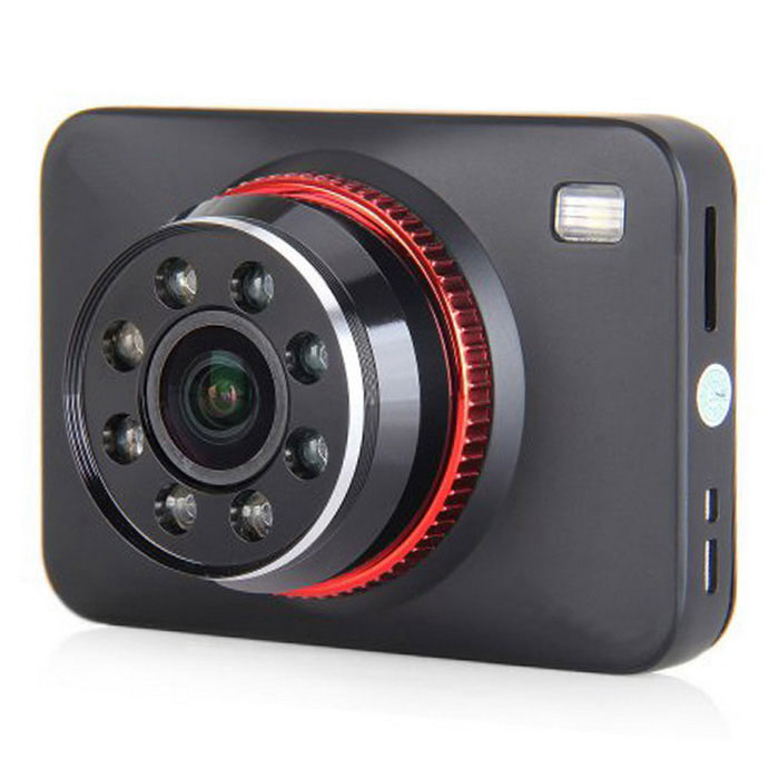 "2.7"" 1080P Car DVR Parking Camera w/ IR Night Vision, HDMI - Black+Red"