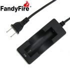 FandyFire US Plug Single Slot 18650 Battery Charger w/ Cable - Black