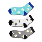 EUR38-43 Unisex Weather Lightning Pattern Breathable Short Socks (3Pairs)