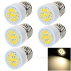 E27 3W Mini LED Spotlights Warm White 3200K 230lm 15-5730 SMD (AC 220~240V / 5 PCS)