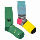 Men's Patterned Casual Socks (Size 40~45 / 2 Pairs)