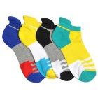 Sports Striped Ankle Socks - Multi-Color (Size 40~43 / 4 Pairs)