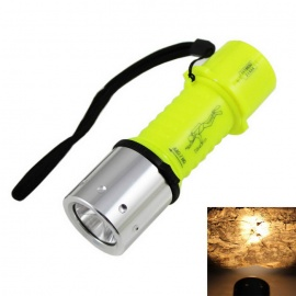 XM-L T6 LED Diving Flashlight Warm White 3-Mode - Grass Green + Black