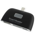 OTG Smart Reader / SDHC / MS / MMC / M2 / TF / U Flash Disk - Black