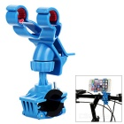 "Motorcycle Handlebar Mount Holder Clamp for Max. 7.9"" Mobile Phones - Blue"