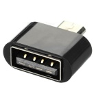 Universal USB 2.0 F to Micro USB M OTG Adapter Set - Black (5PCS)