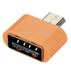 Universal USB 2.0 F to Micro USB M OTG Adapter Set - Orange (5PCS)