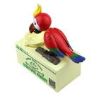 Eat Money Parrot Greedy Birds Electric Funny Piggy Bank - Multicolor