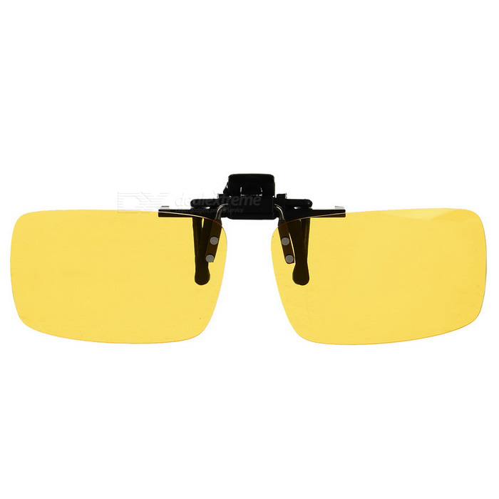 Anti-Dazzle Light Resin Clip-on Polarized Sunglasses - Yellow