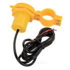Universal USB Motorcycle Power Charger w/ Switch, Cover - Yellow