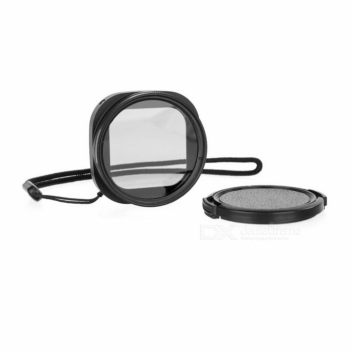 52mm CPL Lens,Filter Adapter, Lens Cap, Filter Cap for Gopro 4 Session
