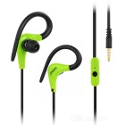 KEEKA 3.5mm Plug Wired Earhook Earphone - Green + Black