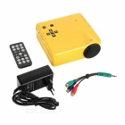HD Mini LED Home Theater Projector - Yellow