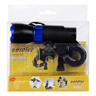 SOLDIER Handlebar Mounted White 3-Mode LED Bike Light Headlight - Blue