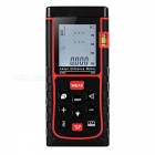 "SW-E60 60m 1.8"" Laser Distance / Area / Volume Meter w/ Bubble Level - Black + Red (2 x AAA)"